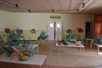 La peinture du restaurant scolaire du Petit Prince
