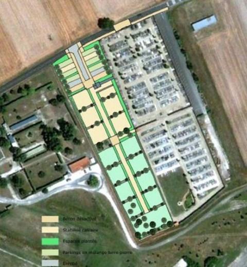 cimetière plan de masse