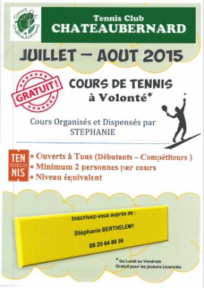 info tennis été 2015