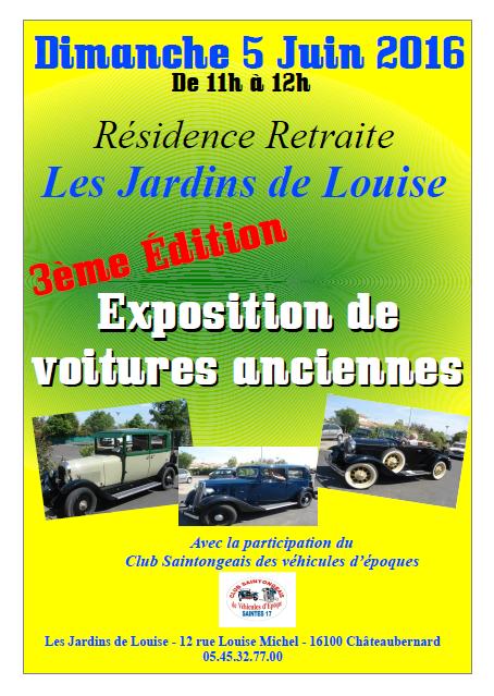 affiche exposition vieilles voitures