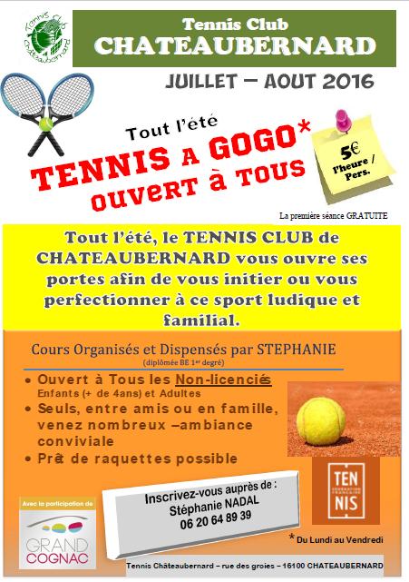 affiche tennis club été 2016